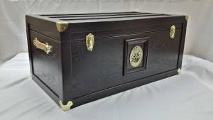 CAF Trunk - Espresso - Side/Front View