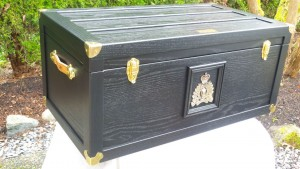 RCMP Trunk - Blue - Side/Front View
