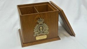 RCMP Double Oak Urn - Open