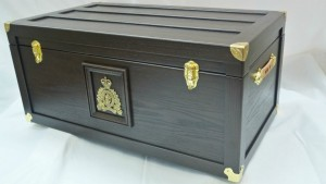 RCMP Trunk - Walnut - Front/Side View
